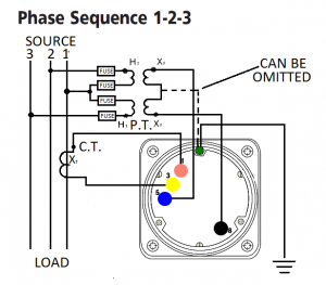 Power factor 3 phase 3 wire