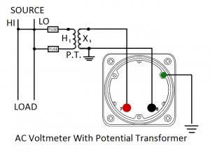 AC Voltmeter w/PT